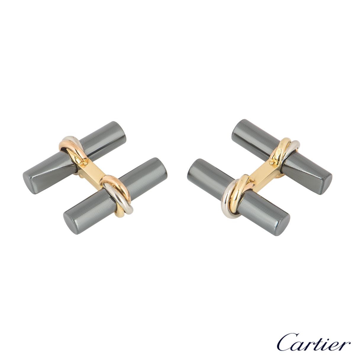 Cartier Tri-Colour Interchangeable Trinity Cufflinks
